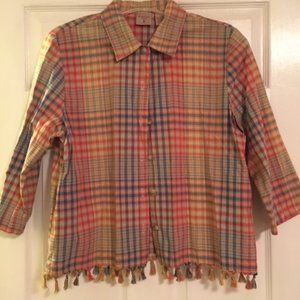 Mountain Lake Casuals Plaid Button Down - Size M